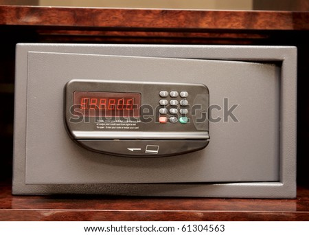 Open safe in a wealthy house - stock photo
