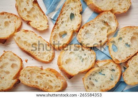 Open sandwiches - stock photo
