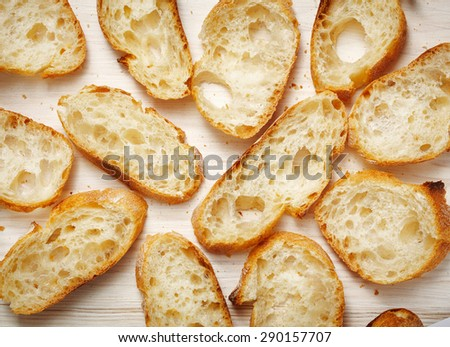 Open sandwiches - stock photo