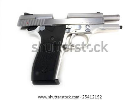 Open 45 Semi-Auto Handgun - stock photo