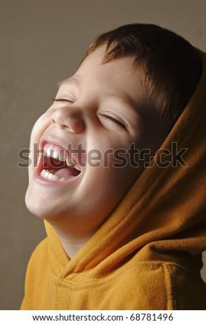 open smile happy boy - stock photo