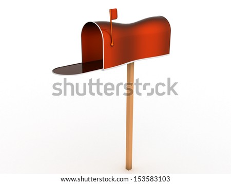 Open the mailbox on a white background #1 - stock photo