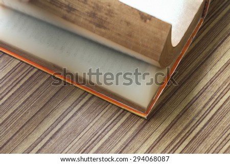 Open the old books. - stock photo