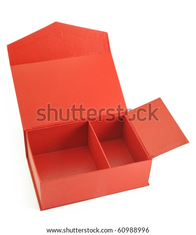 Open the red box - stock photo