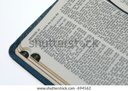 opened Bible - stock photo