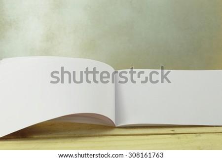 Opened blank memo - stock photo