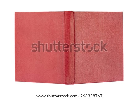 Opened book cover isolated on white background - stock photo