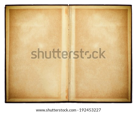 opened book isolated. Old Paper Texture - stock photo