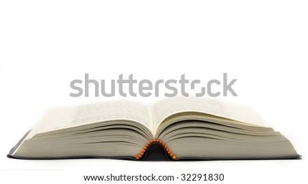 opened book isolated on white background - stock photo