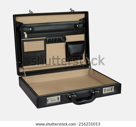 Opened Briefcase - stock photo