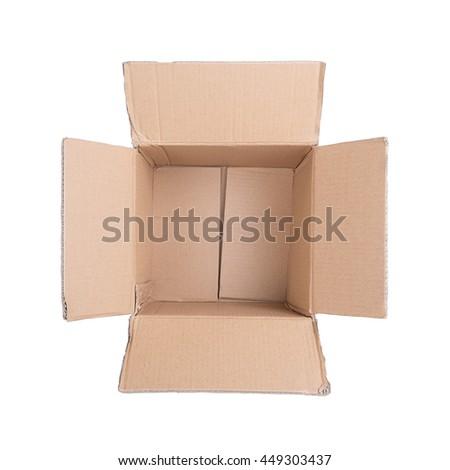 Opened  cardboard - stock photo