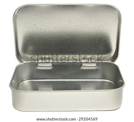 Opened Mint Tin - stock photo