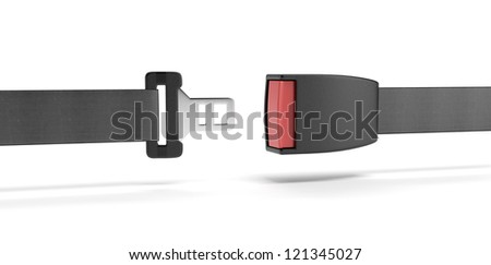 Opened seat belt. - stock photo