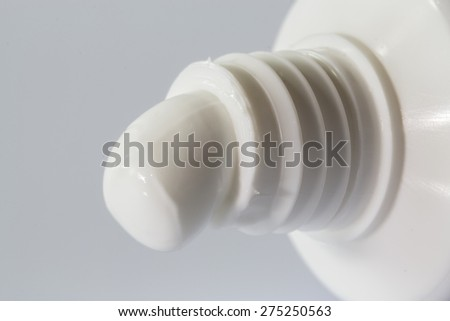 Opened Toothpaste tube close up - stock photo
