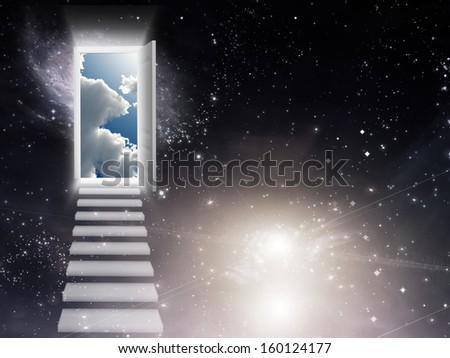 Opening Door - stock photo