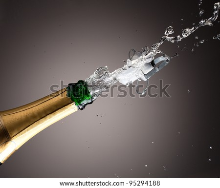 Openning champagne bottle - stock photo