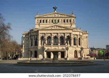 Opera House in Frankfurt - stock photo