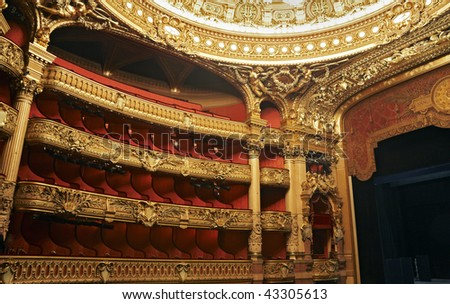 opera interior - stock photo