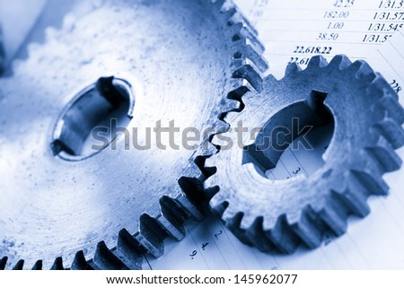 Operating budget and two mechanical ratchets - stock photo