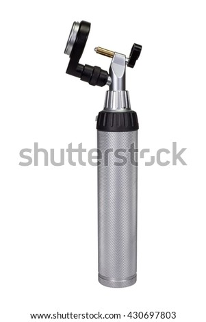 Operating Otoscope on white background. - stock photo