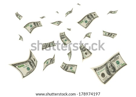 Operation with the U.S. currency - cashing, exchange, purchase and sale. - stock photo