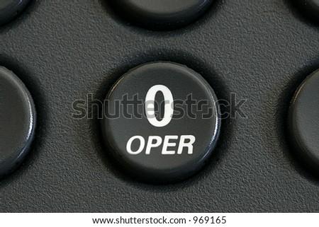 Operator key - stock photo