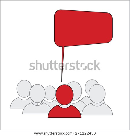 Opinion Leader - Business Men Icons - stock photo