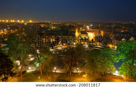 Opole by night - stock photo