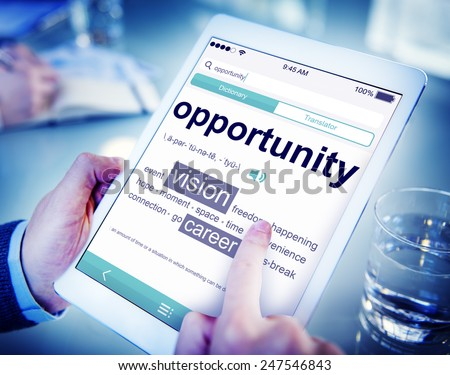Opportunity Business Vision Online Office Working Concept - stock photo