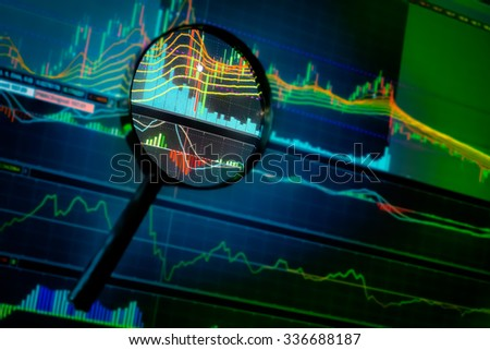 opportunity investment in stock market with market chart - stock photo