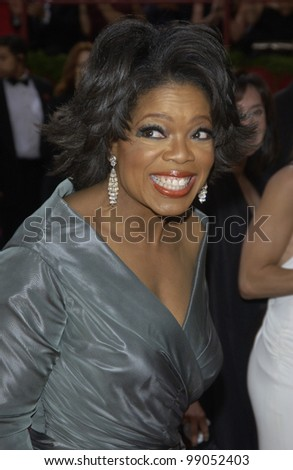 OPRAH WINFREY at the 76th Annual Academy Awards in Hollywood. February 29, 2004 - stock photo