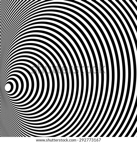 Opt Art Illustration for your design. Optical Illusion. Abstract background. Use for cards, invitation, wallpapers, pattern fills, web pages elements and etc. - stock photo