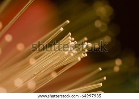 optic fiber colorful technology background - stock photo