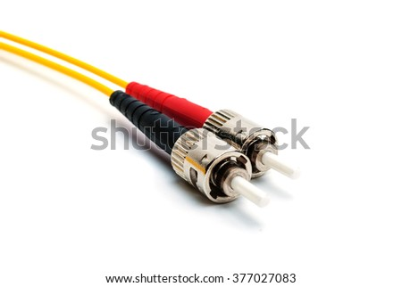 optical connectors lc-type - stock photo
