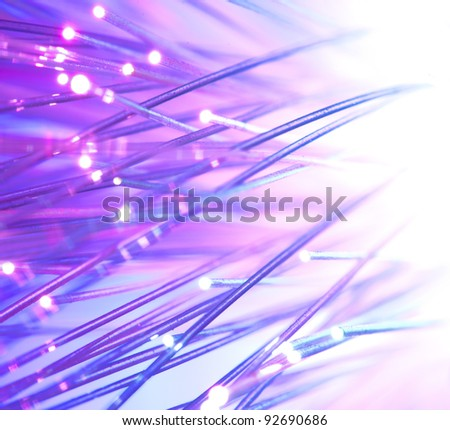 Optical fibers bright colors - stock photo