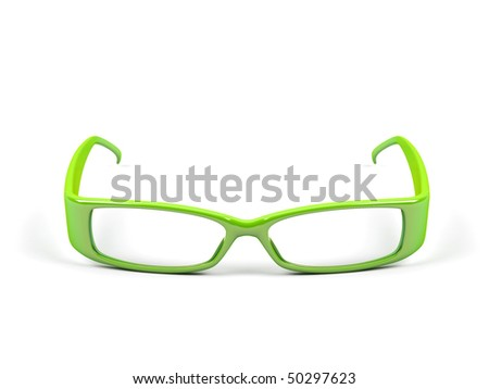 Optical glasses isolated on a white background. - stock photo