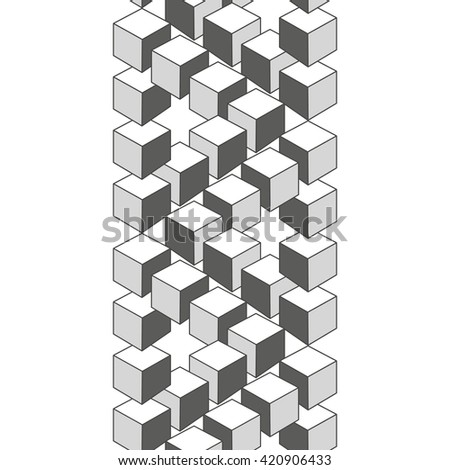 Optical illusion, abstract geometric design element. Printoptical illusion symbols, Impossible sign. Monochrome vector design - stock photo