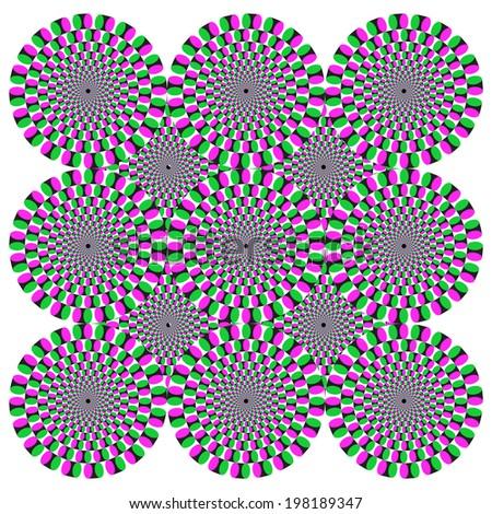 Optical illusion background pattern - stock photo