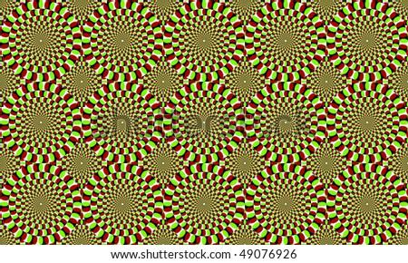 optical ilusion - stock photo