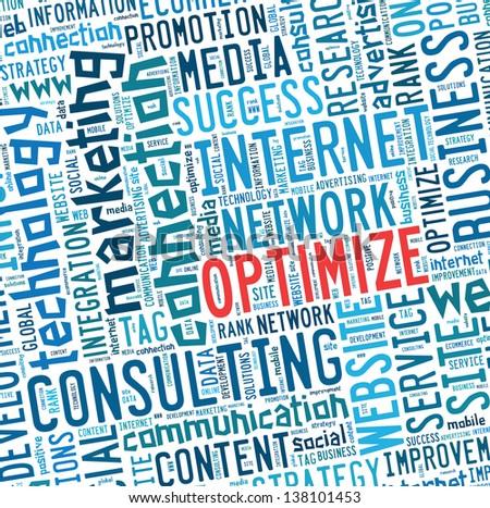 Optimism info text graphics - stock photo