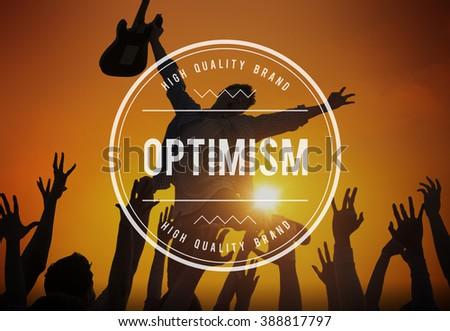 Optimism Positive Thinking Attitude Outlook Concept - stock photo