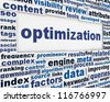Optimization message background. Process optimization poster conceptual design - stock photo