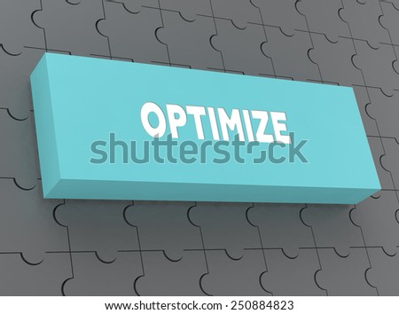 OPTIMIZE - stock photo