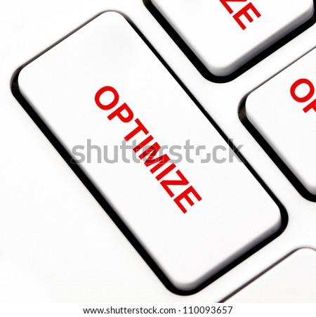 Optimize button on keyboard - stock photo