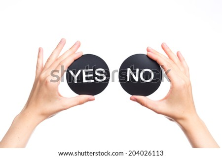 option yes or no on - stock photo
