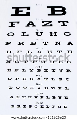 optotype for measurement of view - stock photo