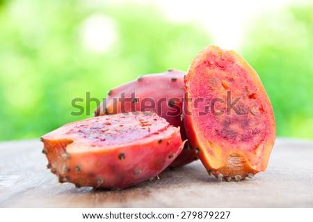 Opuntia fruit - stock photo