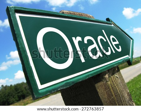 Oracle road sign - stock photo
