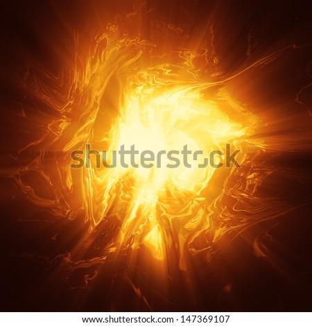 Oragne plasma energy background computer generated illustration - stock photo