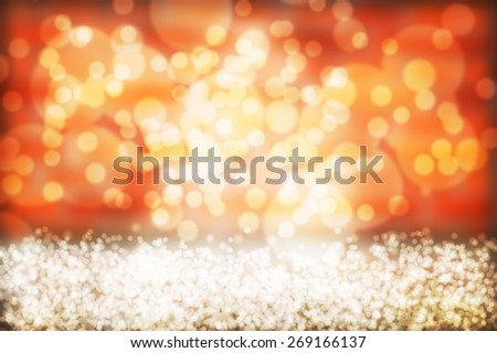 Orange abstract background, orange bokeh abstract lights - stock photo